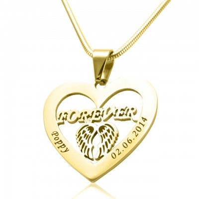 Personalised Angel in My Heart Necklace - 18ct Gold Plated - Handcrafted & Custom-Made