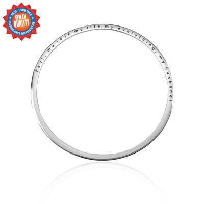 Personalised Classic Bangle - Sterling Silver - Handcrafted & Custom-Made