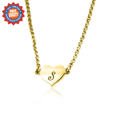 Personalised Precious Heart - 18ct Gold Plated - Handcrafted & Custom-Made
