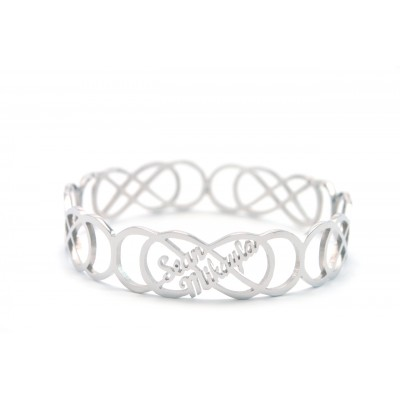 Personalised Endless Double Infinity Bangles - Handcrafted & Custom-Made