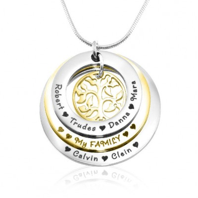 Personalised Family Triple Love - Two Tone - Gold n Silver - Handcrafted & Custom-Made