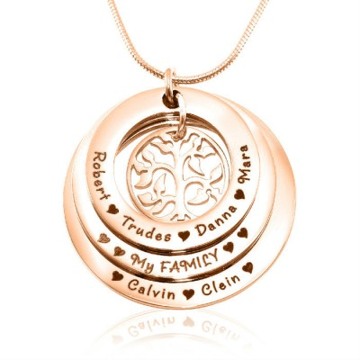 Personalised Family Triple Love - 18ct Rose Gold Plated - Handcrafted & Custom-Made