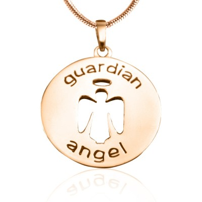 Personalised Guardian Angel Necklace 1 - 18ct Rose Gold Plated - Handcrafted & Custom-Made