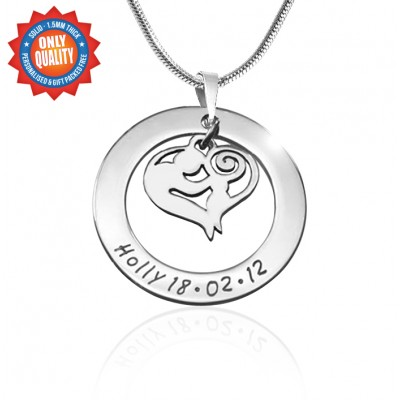 Personalised Mothers Love Necklace - Sterling Silver - Handcrafted & Custom-Made