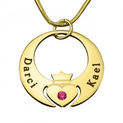 Personalised Queen of My Heart Necklace - 18ct Gold Plated - Handcrafted & Custom-Made