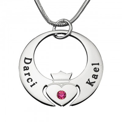 Personalised Queen of My Heart Necklace - Sterling Silver - Handcrafted & Custom-Made