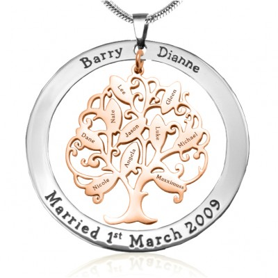 Personalised Tree of My Life Washer 10 - Two Tone - Rose Gold Tree - Handcrafted & Custom-Made