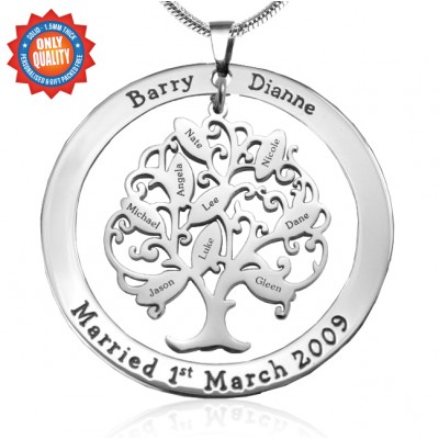 Personalised Tree of My Life Washer 9 - Sterling Silver - Handcrafted & Custom-Made