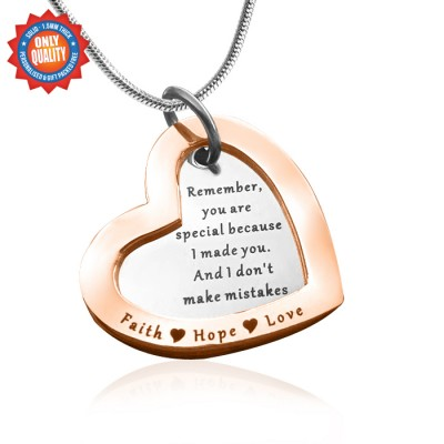 Personalised Love Forever Necklace - Two Tone - Rose Gold  Silver - Handcrafted & Custom-Made