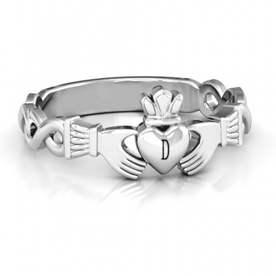Classic Infinity Claddagh Ring - Handcrafted & Custom-Made