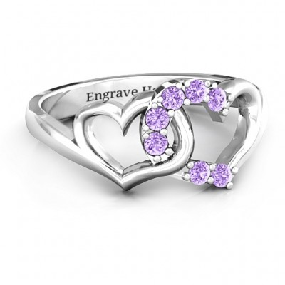 Connecting Hearts Ring - Handcrafted & Custom-Made
