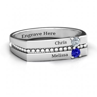 Crevice Beaded Women's Ring - Handcrafted & Custom-Made
