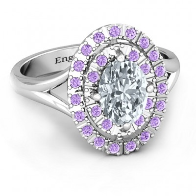 Margaret Double Halo Ring - Handcrafted & Custom-Made