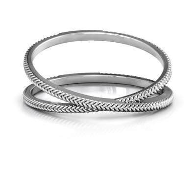 Modern Crossover Ring - Handcrafted & Custom-Made