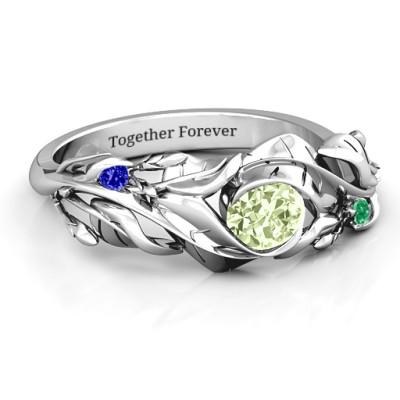 Organic Leaf Ring - Handcrafted & Custom-Made