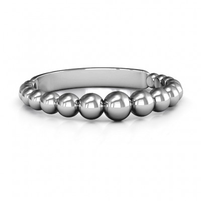 Sterling Silver Beaded Beauty Ring - Handcrafted & Custom-Made