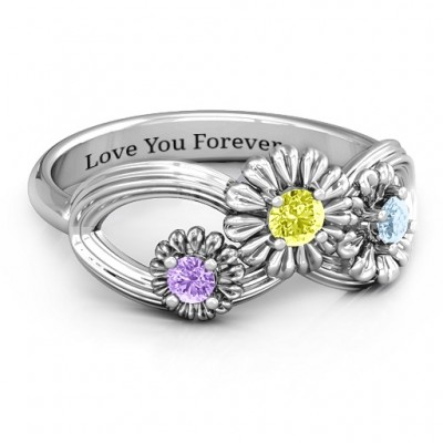 Sterling Silver Endless Spring Infinity Ring - Handcrafted & Custom-Made