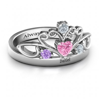 Tale Of True Love Tiara ring - Handcrafted & Custom-Made