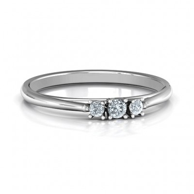 Trinity Ring on Classic Band - Handcrafted & Custom-Made
