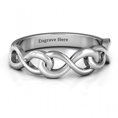 Triple Entwined Infinity Ring - Handcrafted & Custom-Made