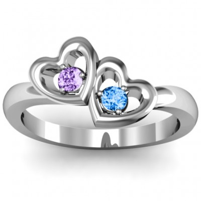Twin Hearts Ring - Handcrafted & Custom-Made