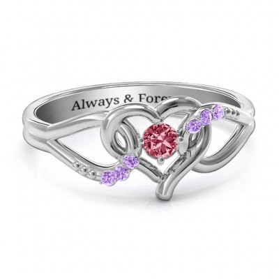 You Have My Heart Ring with Accents - Handcrafted & Custom-Made