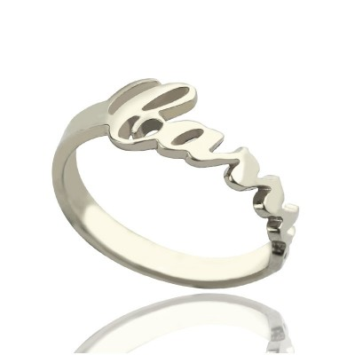 Personalised Carrie Name Rings Gift Sterling Silver - Handcrafted & Custom-Made