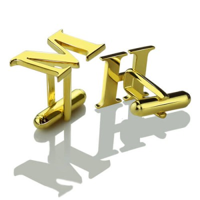 Best Initial Cufflinks 18ct Gold Plated - Handcrafted & Custom-Made