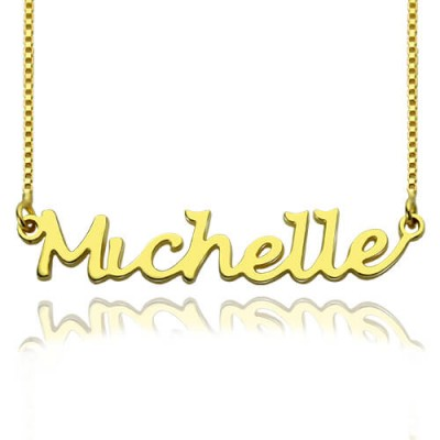 HandWriting Name Necklace 18ct Gold Plate - Handcrafted & Custom-Made