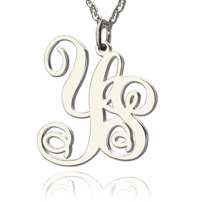 Personalised Sterling Silver 2 Initial Monogram Necklace - Handcrafted & Custom-Made