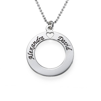 Sterling Silver Couples Love Necklace - Handcrafted & Custom-Made