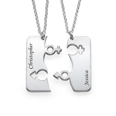 Engraved His and Hers Necklace for Couples - Handcrafted & Custom-Made