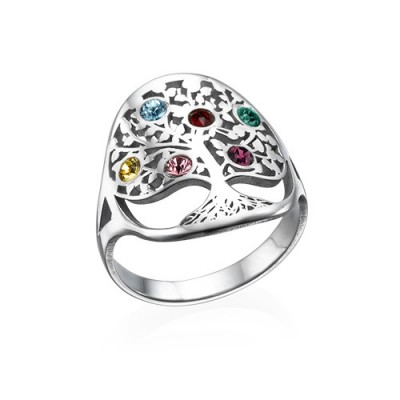 Family Tree Jewellery - Birthstone Ring  - Handcrafted & Custom-Made