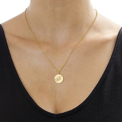18ct Gold Plated Initial Pendant with Script Font - Handcrafted & Custom-Made