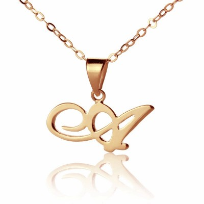 Custom Letter Necklace 18ct Rose Gold Plated - Handcrafted & Custom-Made