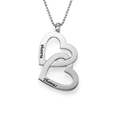 Personalised Heart in Heart Necklace - Handcrafted & Custom-Made