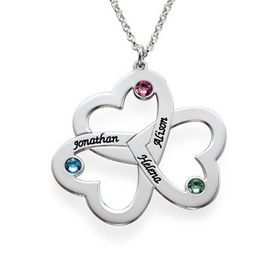 Personalised Triple Heart Necklace - Handcrafted & Custom-Made