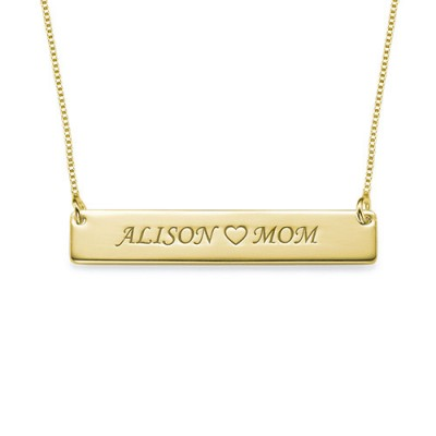 18ct Gold Plated Personalised Nameplate Necklace - Handcrafted & Custom-Made