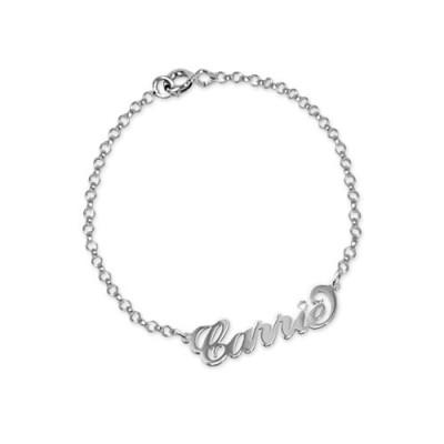 Silver and Crystal Name Bracelet/Anklet - Handcrafted & Custom-Made
