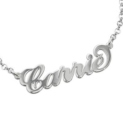 "Sterling Silver ""Carrie"" Name Bracelet / Anklet - Handcrafted & Custom-Made"