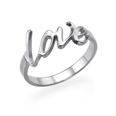 Sterling Silver Love Ring - Handcrafted & Custom-Made