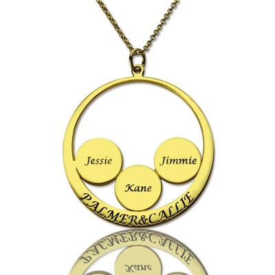 Mothers Family Name Pendant In Gold - Handcrafted & Custom-Made