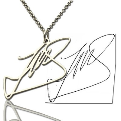 Custom Necklace with Your Own Signature Silver - Handcrafted & Custom-Made