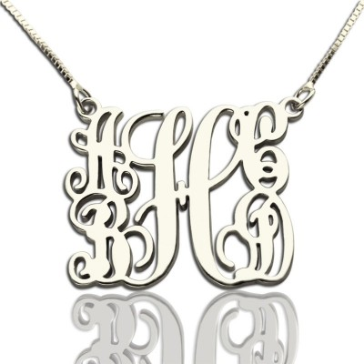 Customised 5 Initials Family Monogram Necklace Silver - Handcrafted & Custom-Made