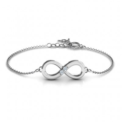 Personalised Twosome  Infinity Bracelet - Handcrafted & Custom-Made