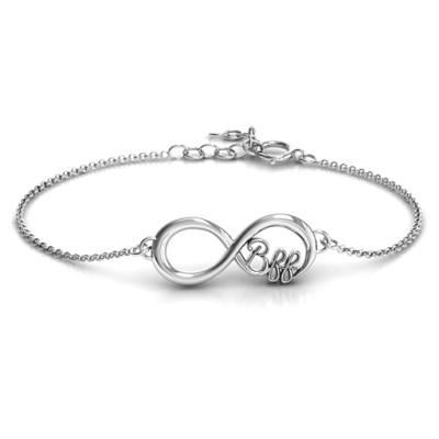 Personalised BFF Friendship Infinity Bracelet - Handcrafted & Custom-Made