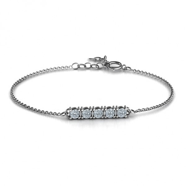 Personalised Classic 5 Birthstone Bracelet  - Handcrafted & Custom-Made