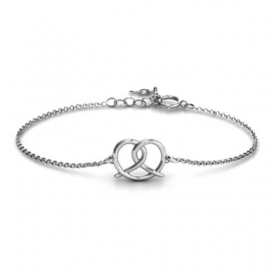 Personalised Love Knot Bracelet - Handcrafted & Custom-Made
