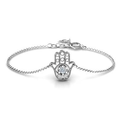 Personalised Upright Hamsa Bracelet - Handcrafted & Custom-Made