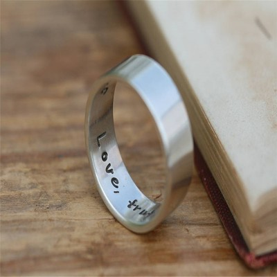 Pure And Simple Personalised Mens Ring - Handcrafted & Custom-Made